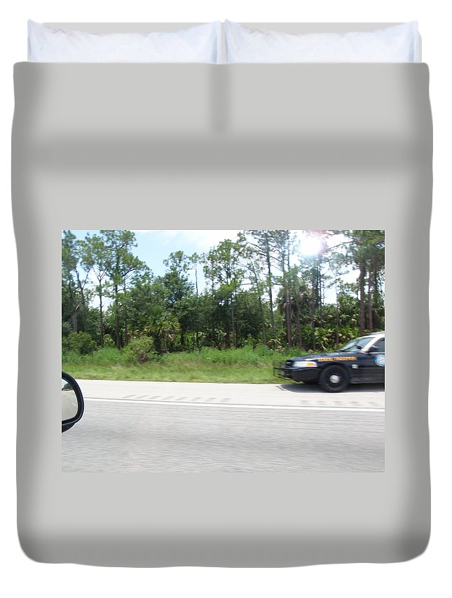 Getaway Duvet Cover featuring the photograph The Getaway by Are Lund