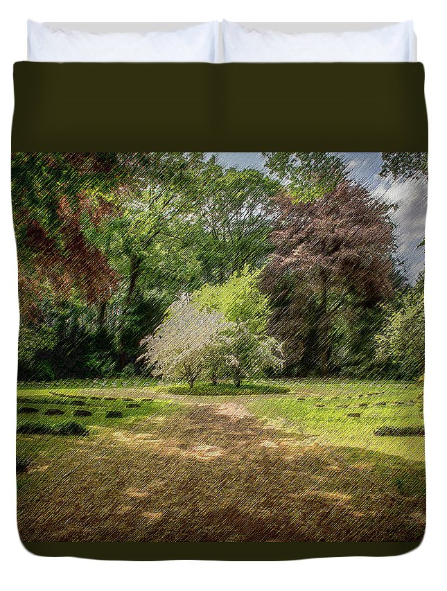 Glade Duvet Cover featuring the digital art The Glade by CR Beaumont
