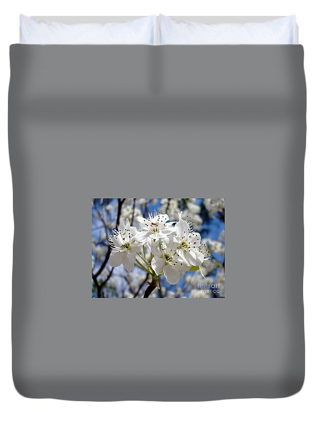 Floral Photography Duvet Cover featuring the photograph The Glory Of Spring by Kathy Bucari