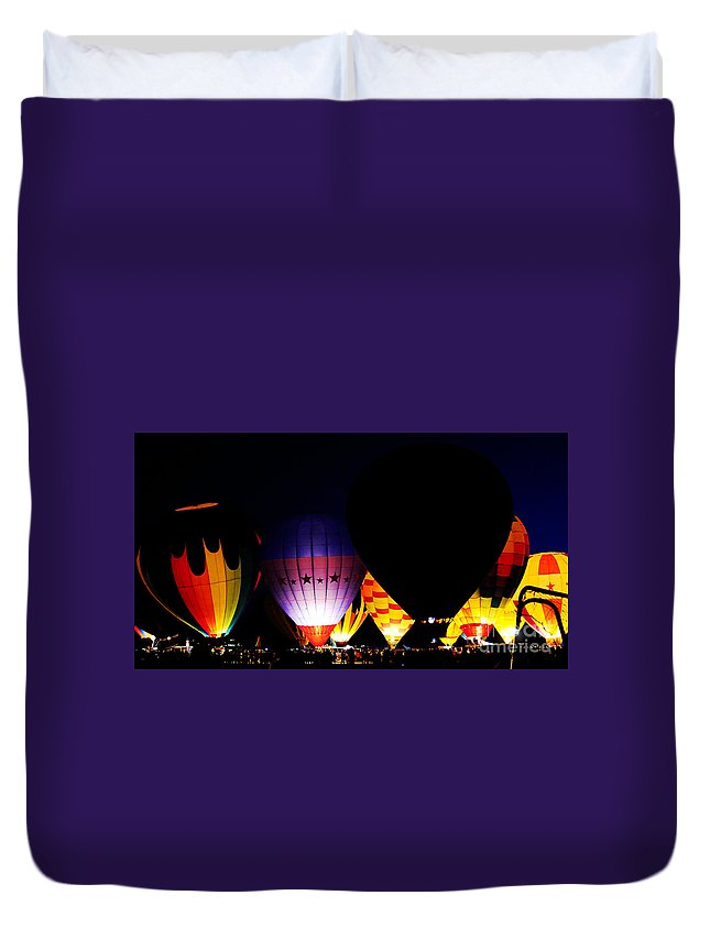 Clay Duvet Cover featuring the photograph The Glowing by Clayton Bruster