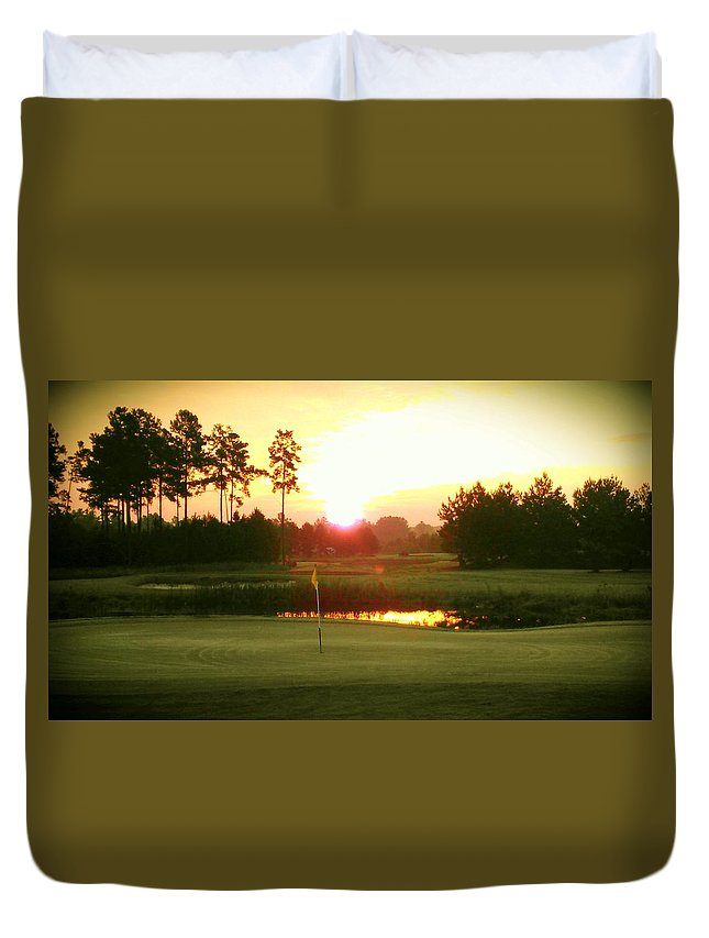 Duvet Cover featuring the photograph The Goal's In Sight by Joseph Stewart