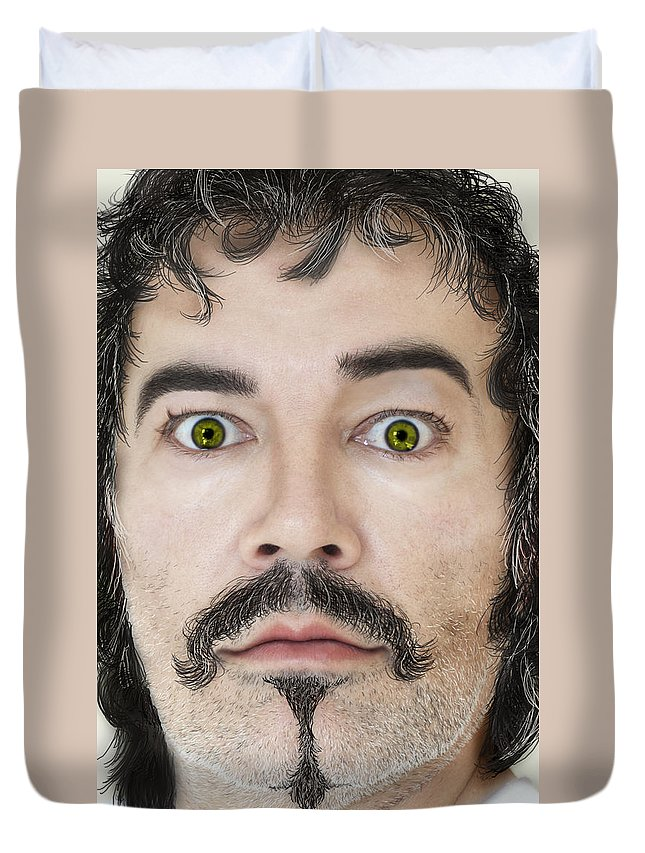 Face Duvet Cover featuring the photograph The Good Guy by Henri Irizarri