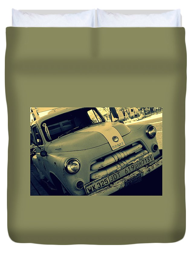 Photography Duvet Cover featuring the photograph The Good Old Days On Route66 by Susanne Van Hulst