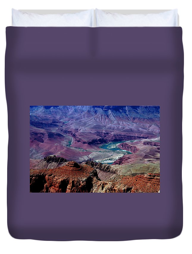 Photography Duvet Cover featuring the photograph The Grand Canyon by Susanne Van Hulst