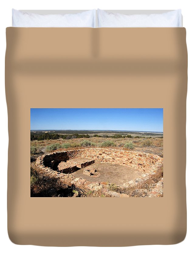 Great Kiva Duvet Cover featuring the photograph The Great Kiva by David Lee Thompson