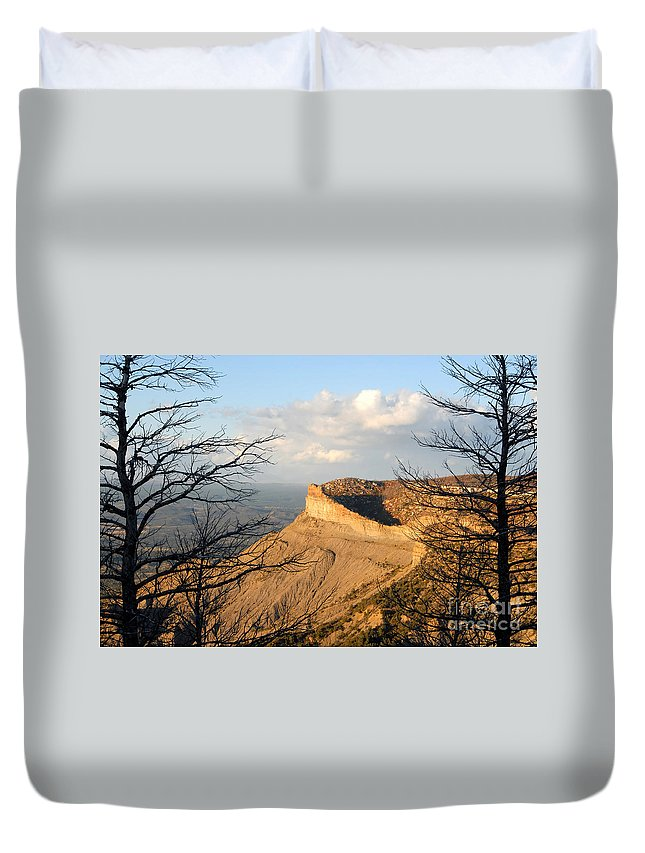 Mesa Duvet Cover featuring the photograph The Great Mesa by David Lee Thompson
