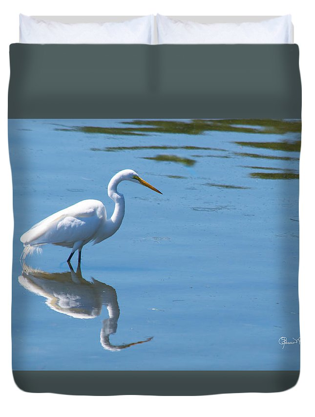 susan Molnar Duvet Cover featuring the photograph The Great White Fisherman by Susan Molnar