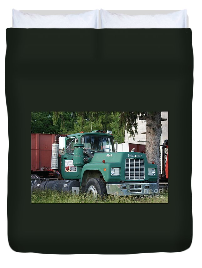 Mack Duvet Cover featuring the photograph The Green Mack by Rob Luzier