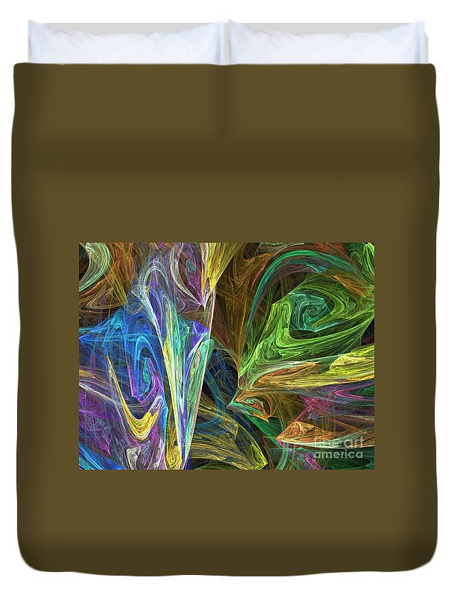 Fractals Duvet Cover featuring the digital art The Groove by Richard Rizzo