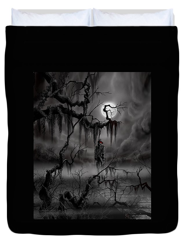Nightmare Duvet Cover featuring the painting The Hangman by James Christopher Hill