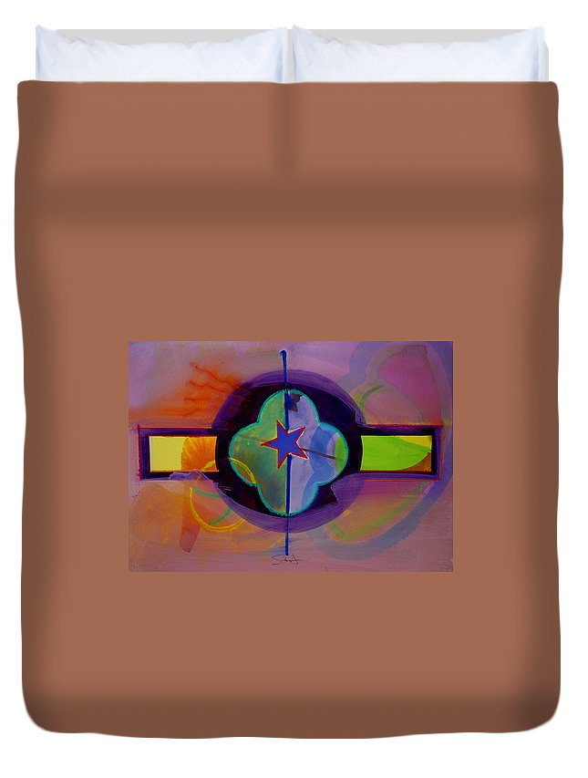 Star Duvet Cover featuring the painting The Happy American by Charles Stuart