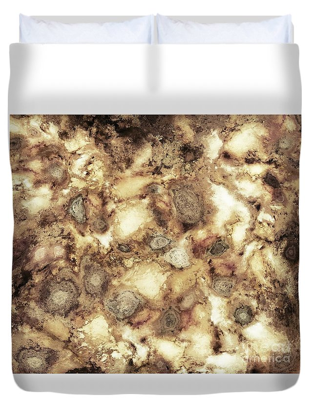 Beige Duvet Cover featuring the digital art The Hard Crash by Keith Mills