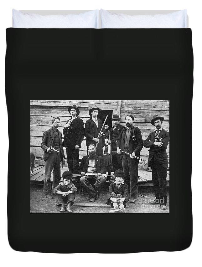1899 Duvet Cover featuring the photograph The Hatfields, 1899 - To License For Professional Use Visit Granger.com by Granger
