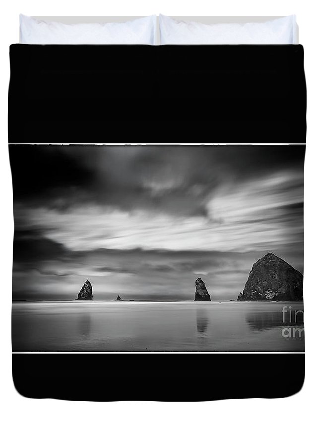 Longexposure Duvet Cover featuring the photograph The Haystack's Brothers by James A Crawford