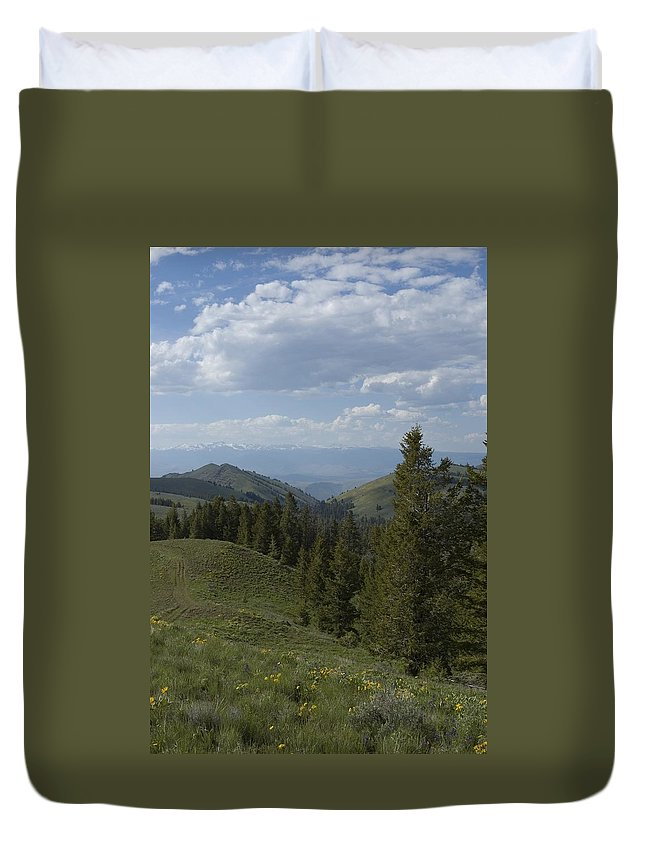 Mountain Duvet Cover featuring the photograph The High Road by Sara Stevenson