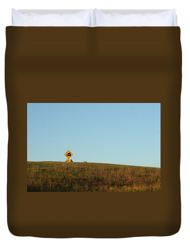 Hill Duvet Cover featuring the photograph The Hill by Nathan Maue