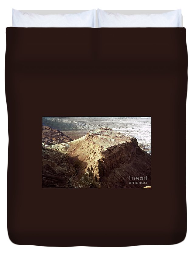 20th Century Duvet Cover featuring the photograph The Holy Land: Masada by Granger