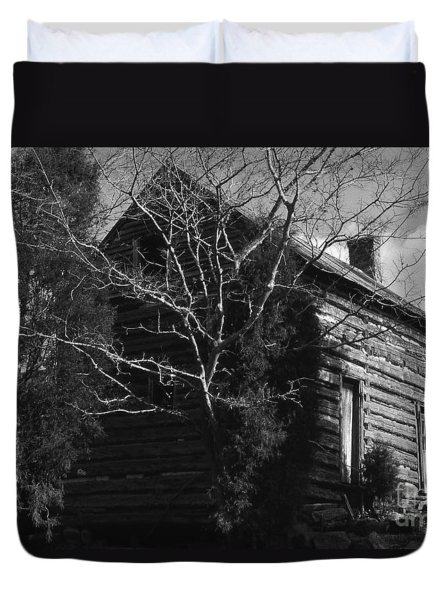 Cabins Duvet Cover featuring the photograph The Homestead by Richard Rizzo