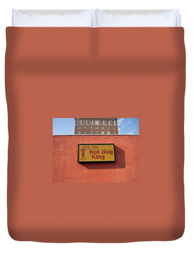 Hot Dog King Duvet Cover featuring the photograph The Hot Dog King by Flavia Westerwelle