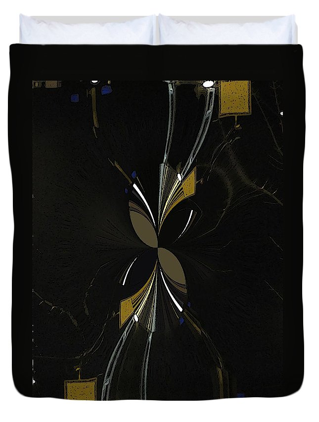 Abstract Duvet Cover featuring the digital art The Hourglass by Tim Allen