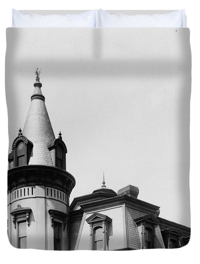 Duvet Cover featuring the photograph The House On Main 2016 by Christopher Kerby