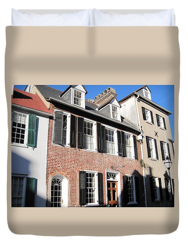 Photography Duvet Cover featuring the photograph The Houses Of Charleston by Susanne Van Hulst