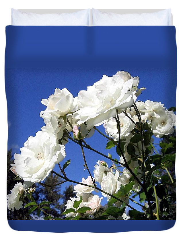 Roses Duvet Cover featuring the photograph The Iceberg Rose by Will Borden