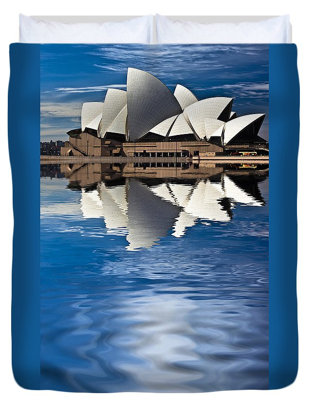 Sydney Opera House Sydney Harbour Duvet Cover featuring the photograph The Iconic Sydney Opera House by Sheila Smart Fine Art Photography