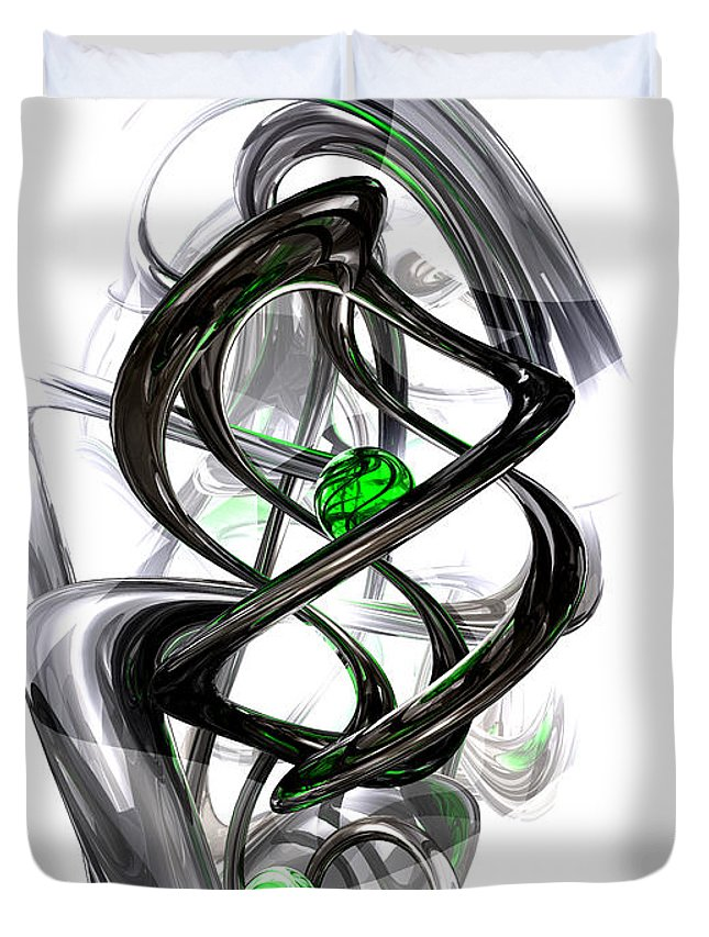 3d Duvet Cover featuring the digital art The Inkwell Abstract by Alexander Butler