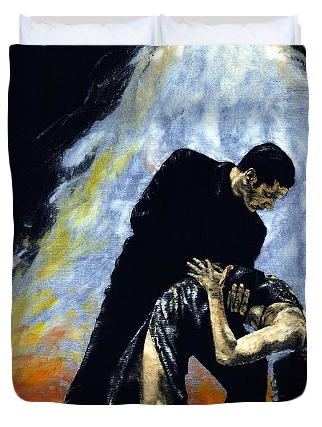 Tango Duvet Cover featuring the painting The Intoxication Of Tango by Richard Young
