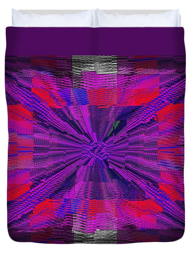 Abstract Duvet Cover featuring the digital art The Irony Of It All by Tim Allen