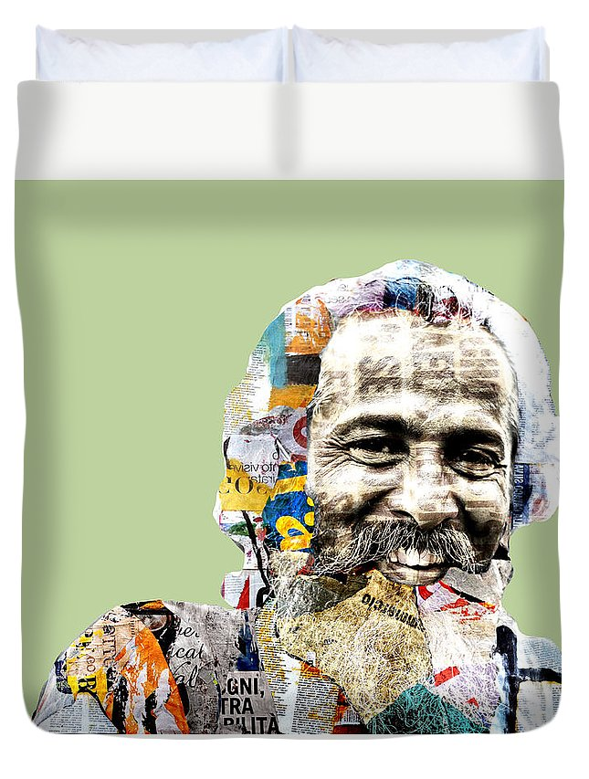 Pop Art Duvet Cover featuring the photograph The Journalist by Dominic Piperata