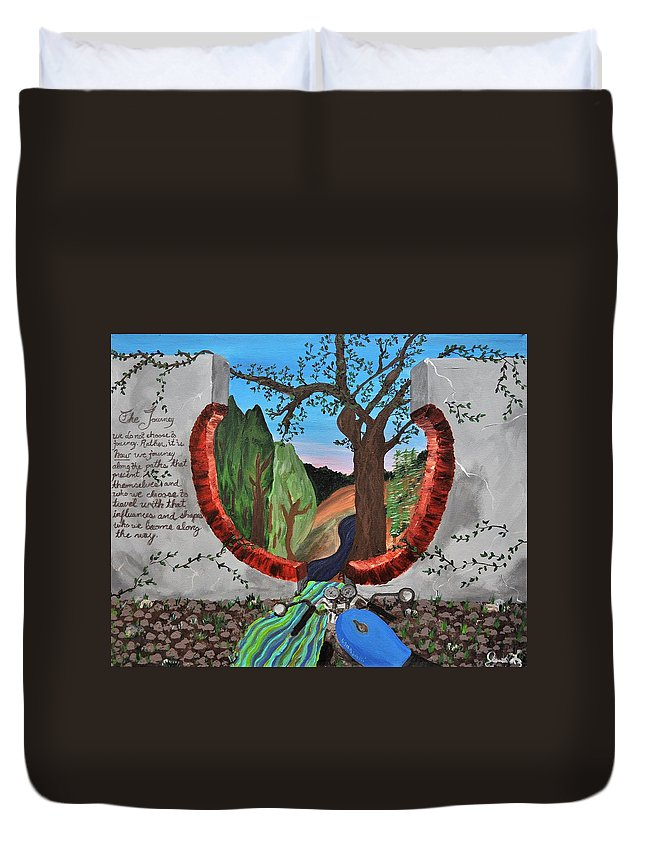 Journey Duvet Cover featuring the painting The Journey by Jennifer Klotz