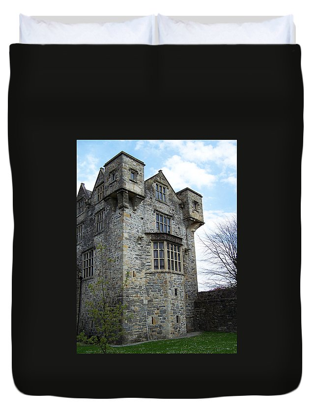 Ireland Duvet Cover featuring the photograph The Keep At Donegal Castle Ireland by Teresa Mucha