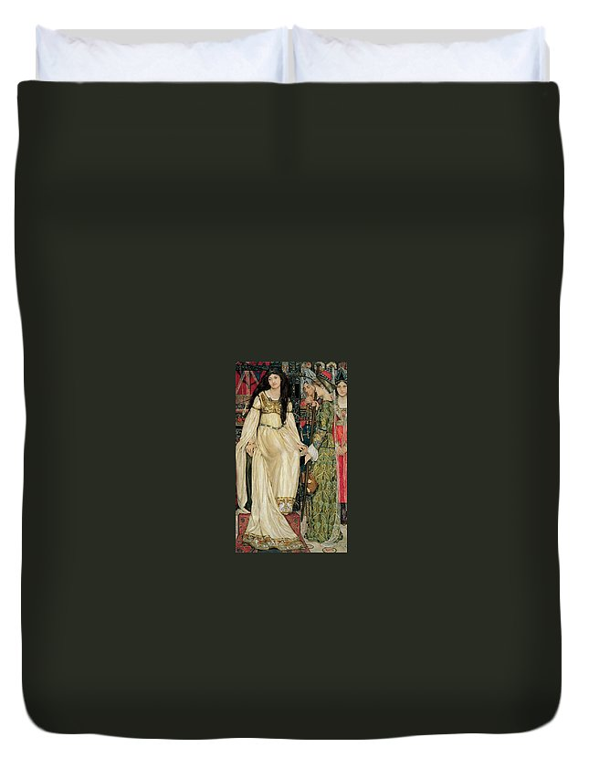Kate Elizabeth Bunce - The Keepsake 1898-1901 Duvet Cover featuring the painting The Keepsake by MotionAge Designs