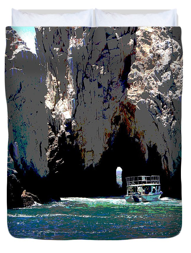 Mexico Duvet Cover featuring the photograph The Keyhole Mexico Cabo San Lucas by Heather Coen