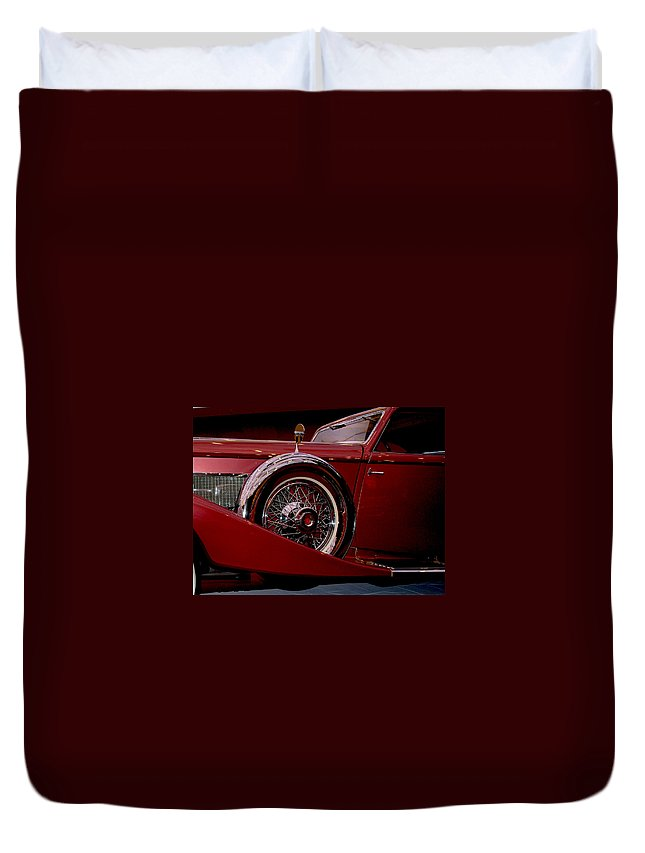 Cars Duvet Cover featuring the photograph The King Of The Road by Susanne Van Hulst