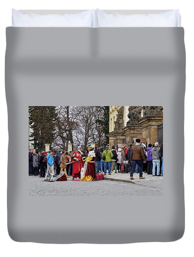 Finland Duvet Cover featuring the photograph The Kings Of The Democracy. Prague Castle. Prague Spring 2017 by Jouko Lehto