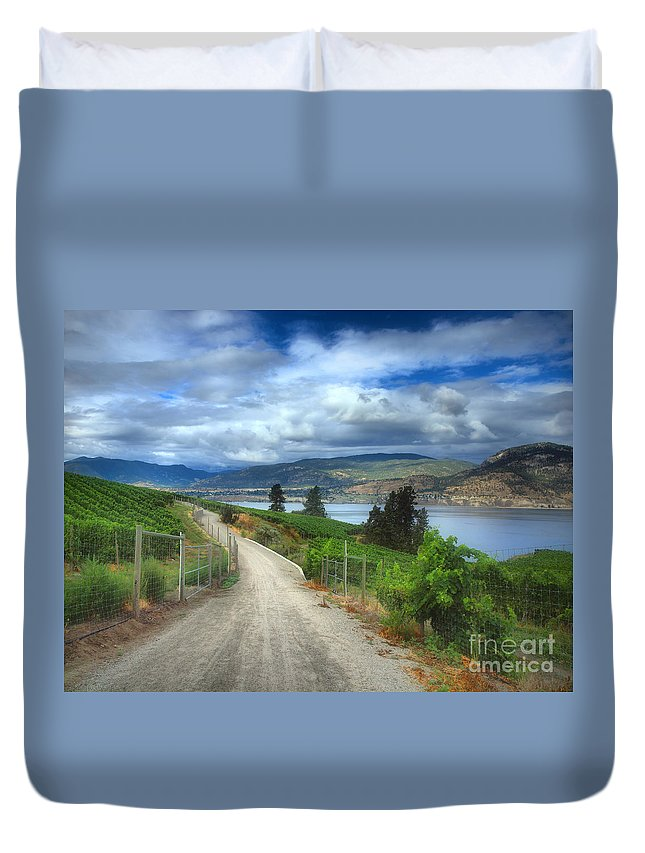 Trail Duvet Cover featuring the photograph The Kvr Trail In Colour by Tara Turner