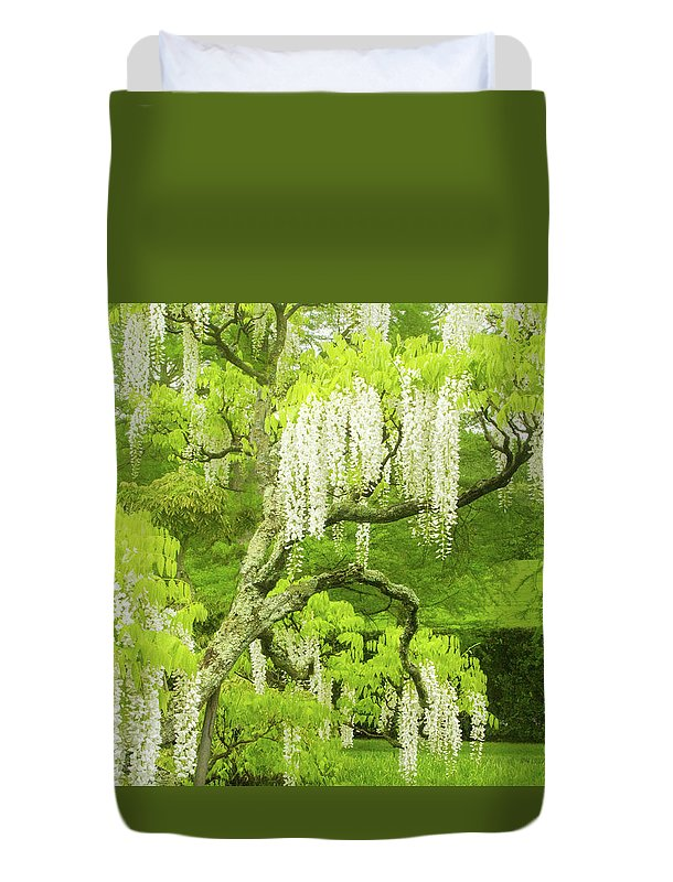 Duvet Cover featuring the photograph The Lady of Shallot by Marilyn Cornwell