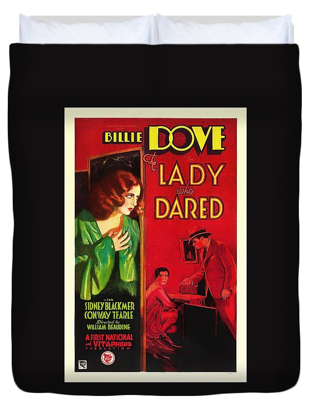 Movie Duvet Cover featuring the mixed media The Lady Who Dared 1931 by Mountain Dreams