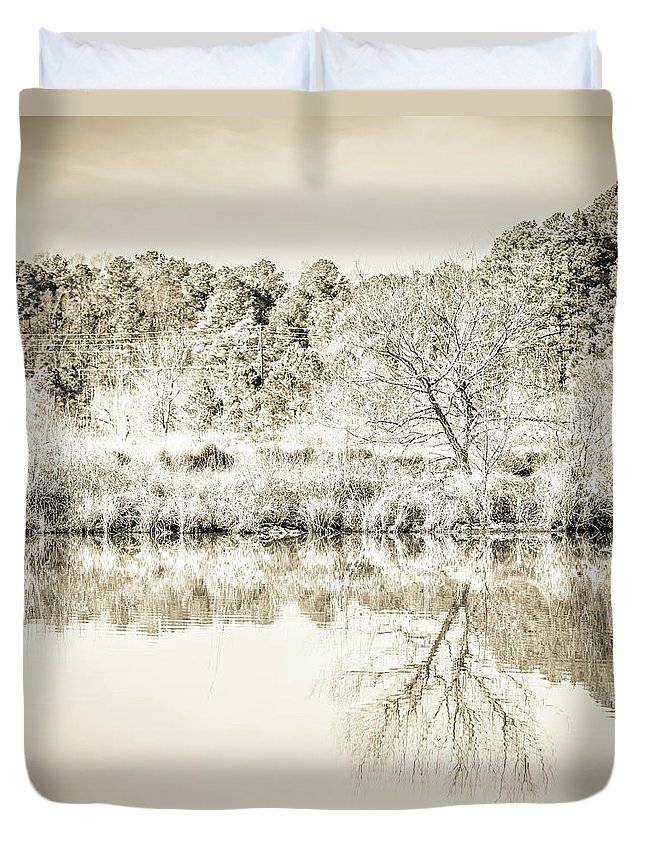 2017 Duvet Cover featuring the photograph The Lake #47 by Wade Brooks