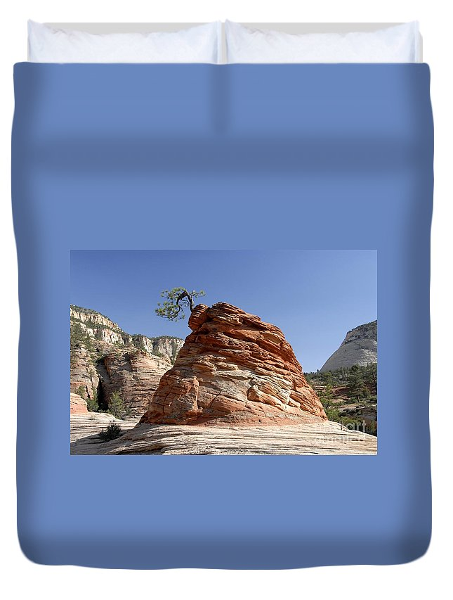 Zion National Park Utah Duvet Cover featuring the photograph The Land Of Zion by David Lee Thompson