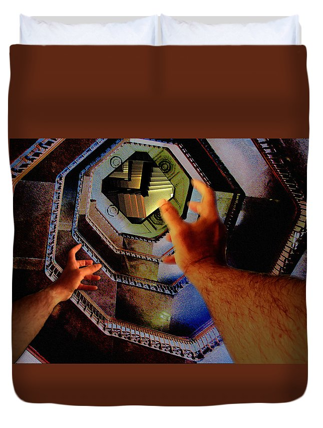 Stairs Duvet Cover featuring the photograph The Landing by Christopher Woods