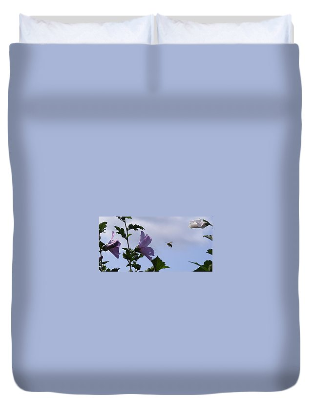 Landscape Duvet Cover featuring the photograph The Landing Strip by Ed Smith