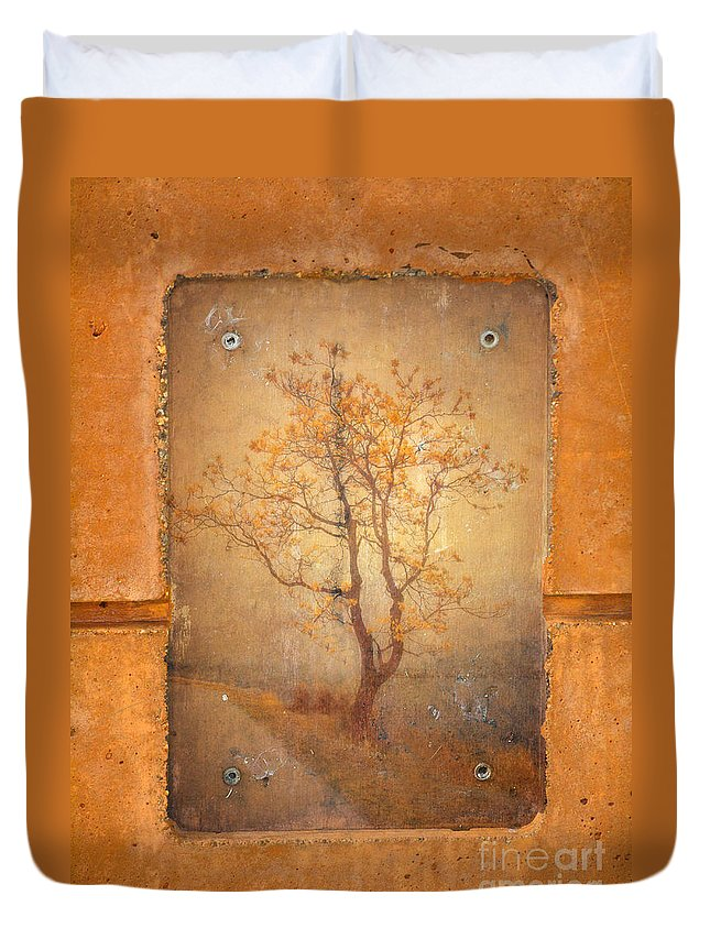 Tree Duvet Cover featuring the photograph The Last Tree by Tara Turner