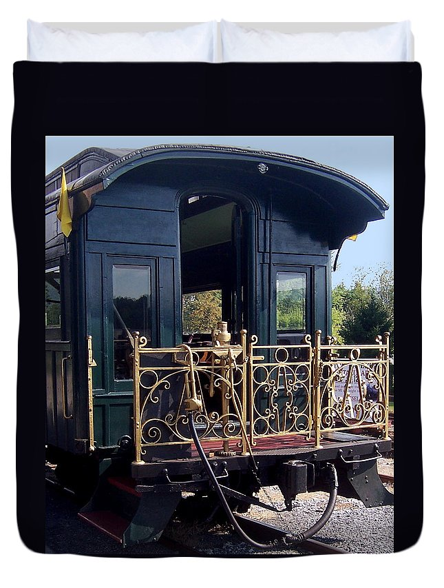 Train Duvet Cover featuring the photograph The Last Windows by Rebecca Smith