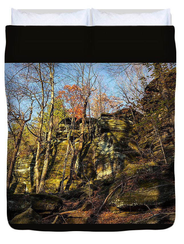 Virginia Kendall Duvet Cover featuring the photograph The Ledges by Tim Fitzwater