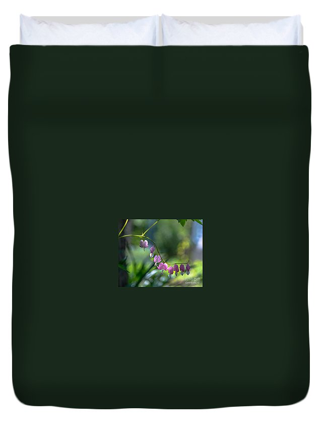 Duvet Cover featuring the photograph The Light In Our Bleeding Hearts by Amy S Klein