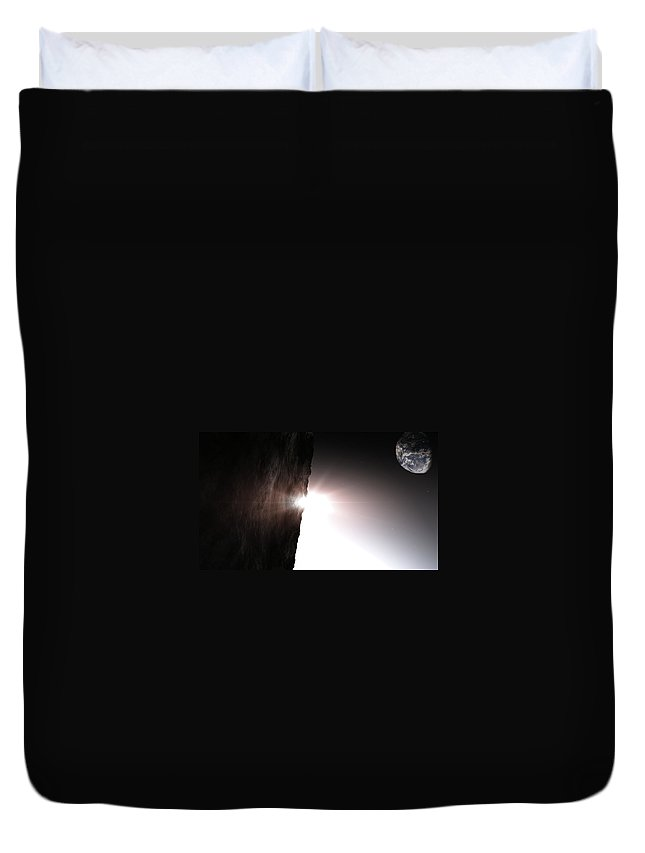 Planets Duvet Cover featuring the digital art The Light Of Day by Richard Rizzo